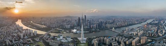 今日广州城区,珠江穿城而过。