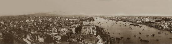 1920年代,广州珠江两岸景象。